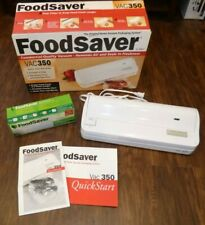 FOODSAVER VAC350 vacuum sealer with extra roll, instructions & original box