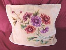 1960s Vintage Beautiful Hand Painted Plush Pillow Case