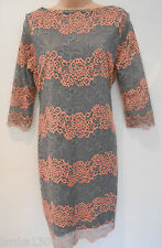 New Grey Per Una M&S Lace Tight Shift Party Dress Gown sizes 12, 14 or 18-£55.00