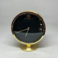 Vintage Howard Miller Nathan George Horwitt Brass Museum Desk Clock MCM