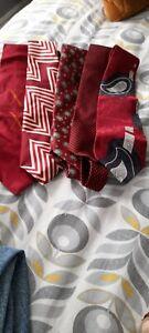 Mens silk designer ties bundle,  Red colour