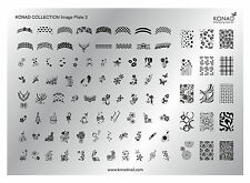 Original KONAD XL Collection Plate Stamping Schablone Nr. 3 für Nailart