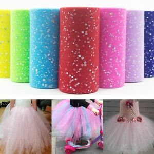 25 Yards Tulle Fabric Roll Glitter Sequins Tutu Dress Wedding Party Decoration