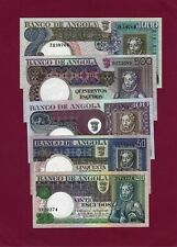 PORTUGAL PORTUGUESE Angola  SET 20 + 50+100+ 500 + 1000 Escudos 1973 AU-UNC
