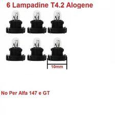 6 Lampadine T4.2 Per illuminazione Manopole Clima Manuale Alfa 156 GTV Spider