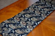Vintage Japanese Silk Maru Obi Sash with Crane in traditional Black and Gold