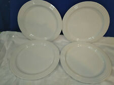 LE CREUSET~White~Dinner Plates~Set of 4~NICE!