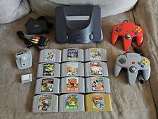 Nintendo 64 + 2 Controller + 12 Spiele + Transfer und Memory Pak