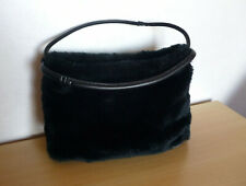 Zwarte nepbont handtas