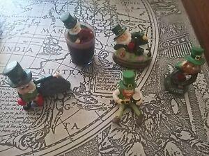 A bundle of 5 Irish Lucky Statue Ornament