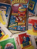5 Vintage 80's-90's SUPER PACKS repacked vintage WAX w HOF cards in old wrappers
