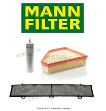 BMW E90 335d Base Sedan 3.0L L6 TDI 09-11 Fuel Air & Cabin Air Filters Kit Mann