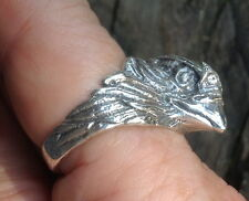 Solid Sterling silver American eagle ring mens jewelry