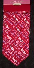 New listing Valentine's Dog bandana,pink w/love hugs & kisses,pet neckwear, kerchief,puppy