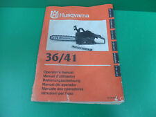 Husqvarna motosega manuale uso manutenzione chain saw operator's manual 36 41