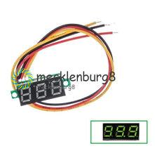 """0.28"""" Green  3 Wire LED DC 0-100V Voltmeter Digital Display Voltage Panel Meter"""