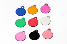 Round pet ID Tags Custom Engraved Dog/Cat personalized ID tag Key Chain NEW