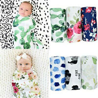 Newborn Infant Baby Boy Girl Sack Swaddle Sleeping Bag Swaddle Muslin Wrap