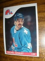 1985-86 Topps  #150 Michel Goulet Quebec Nordiques  NrMt