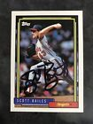 1992 Topps #95 Scott Bailes Autograph Signed Angels