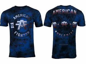 AMERICAN FIGHTER Men's T-Shirt SILVER LAKE Athletic Multicolor Biker MMA S-5XL
