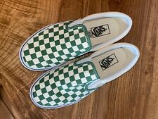 Vans Slip On - Green and Ivory Check - Women's 8.5 - Great Condition!