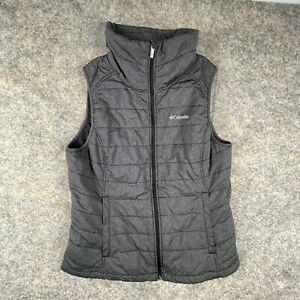 Columbia Women's Insulated Vest Size XL Gray Full Zip Pockets Lightweight