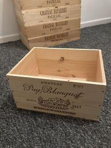 Wooden Wine Box Crate - 6 Bottle Size - Genuine - Storage Gardening Hamper Etc