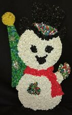 Vintage Popcorn Plastic Snowman