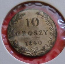 NICOLAUS I - 10 GROSZY 1840, MW ,Silber