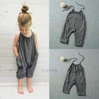 Toddler Kids Baby Girls Strap Romper Jumpsuit Heart Harem Pants Trousers Clothes