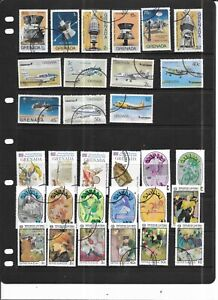 GRENADA 1976 .  SELECTION OF 31. VERY FINE USED.   AS PER SCAN
