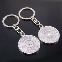50 Years Perpetual Calendar Keyring Vintage Keyfob Jewelry Compass KeyChain New