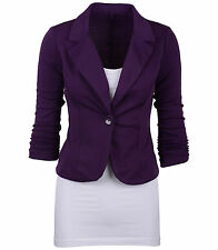 Women Casual Slim Suit Blazer Jacket Coat Outwear Stylish Ladies One Button Tops