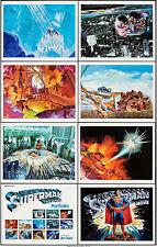 "Movie Posters Superman the Movie 1978 Art Portfolio Set of 8 11""x14"" VF+ 8.5"