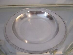 early 20th c french sterling silver (950) baby plate (porridge) Christofle nets