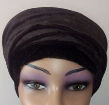 Winter scarfs Ladies Velvet Stretch Turban wrap Long tail cap hair loss/ Chemo