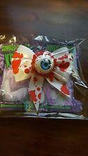 Kreepsville 666 Hair Bow Single Eyeball Splatter Blue Bloody Horror Halloween