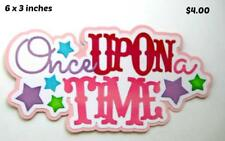 ONCE UPON A TIME TITLE girl  scrapbook premade paper piecing by Rhonda