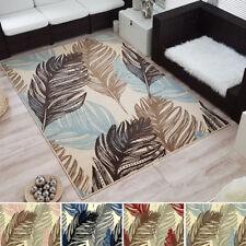 Moderner Design Kurzflor Velours Teppich »Feather« Feder verschiedene Farben