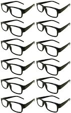 Reading Glasses [+4.00] 12 Black Plastic Frame  Wholesale Lot Reader Unisex 4.00
