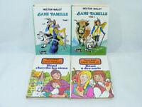 Lot 4 livres SANS FAMILLE Tomes 1&2 + Rémi Hector MALOT Bibliothèque verte rose