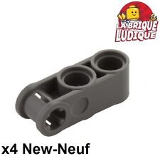 Lego technic - 4x Axle pin connector 3L 2 holes gris f/dark b. gray 42003 NEUF