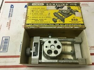 Vintage General Tools DOWLING JIG #840 - Woodworking - Instructions on Box USA