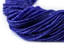 Navy Blue Afghani Tribal Seed Beads 2mm Afghanistan Glass 13.5 Inch Strand