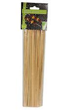100 Bamboo Skewers IN LEGNO PER BARBECUE Frutta Kebab Cioccolato Fountain 25 cm