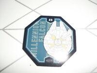 "STAR WARS Jeton Cosmic Shell Leclerc N°23 ""Millennium Falcon"""