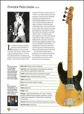 The Stranglers Jean-Jacques Burnel Fender Precision Bass guitar specs article