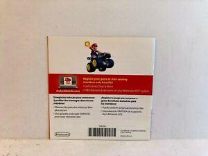 Club Nintendo Mario Kart 7 Nintendo DS INSERT ONLY Authentic
