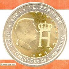 Sondermünzen Luxemburg: 2 Euro Münze 2004 Monogramm Sondermünze Gedenkmünze